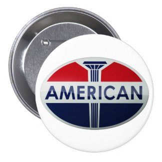 American Gas Station vintage sign crystal version 3 Inch Round Button