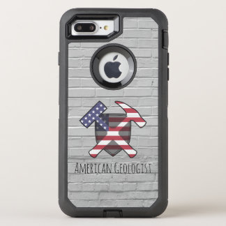 American Geologist Rock Hammers and Shield OtterBox Defender iPhone 8 Plus/7 Plus Case