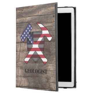 """American Geologist's Rock Hammer and Shield iPad Pro 12.9"""" Case"""