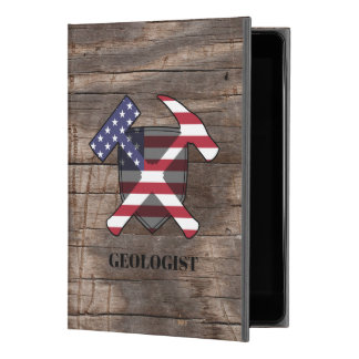 """American Geologist's Rock Hammer and Shield iPad Pro 9.7"""" Case"""
