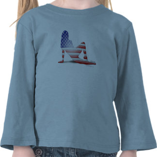 American Girl Silhouette Flag Tshirts