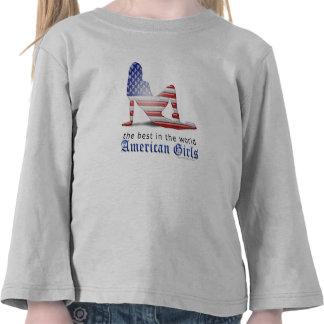 American Girl Silhouette Flag Shirt