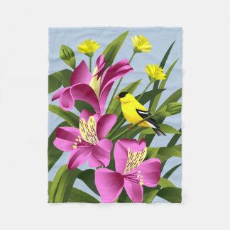 American Goldfinch Art Gifts Fleece Blanket