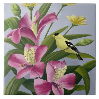 American Goldfinch Art Tiles