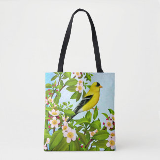 American Goldfinch Bird Tote Bag