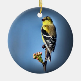 American Goldfinch Ceramic Ornament