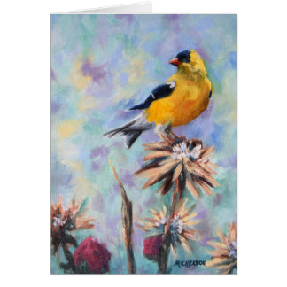 American Goldfinch on Thistle Fine Art Card