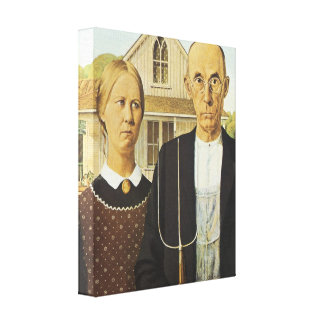 American Gothic, 1930 Gallery Wrap Canvas