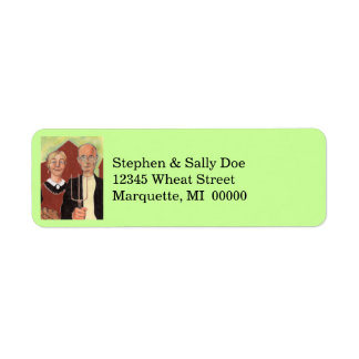 American Gothic Couple Heartland Address Labels