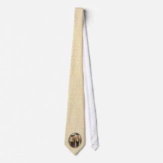 American Gothic Graduation Cameo on Gold Sheen Tie