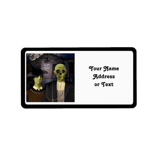 American Gothic Halloween Label