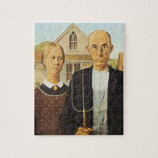 American Gothic Jigsaw Puzzle
