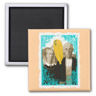 AMERICAN GOTHIC KAYAKERS MAGNET