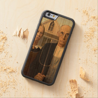 American Gothic Painting by Grant Wood Carved® Cherry iPhone 6 Bumper Case