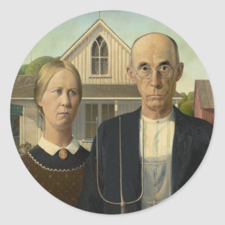 American Gothic Painting Sticker
