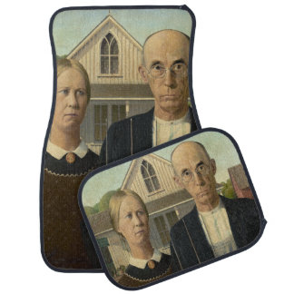 American Gothic Painting Car Mat