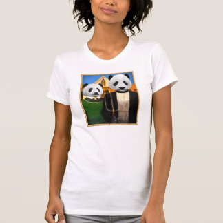 American Gothic Panda with bamboo frame T-Shirt