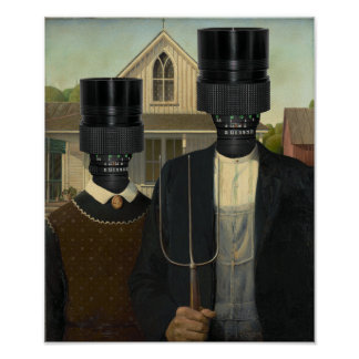 American Gothic Photographic Poster