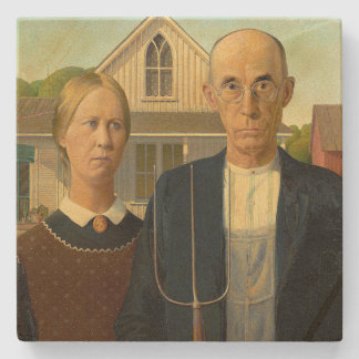 american gothic stone coaster