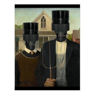 American Gothic with a twist Postcard