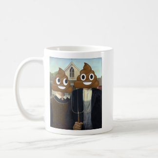 American Gothic with Happy Poop (Lefty) Coffee Mug