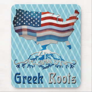 American Greek Roots Mousemat Mouse Pad