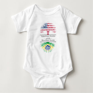 American Grown With Brazilian Roots Great Gift Baby Bodysuit