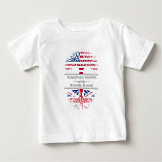 American Grown With British Roots Great Gift Baby T-Shirt