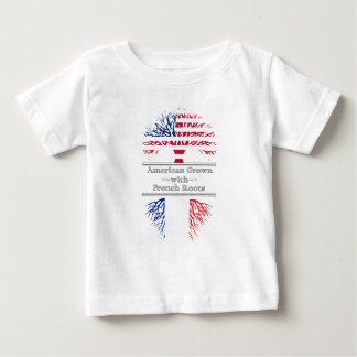 American Grown With French Roots Great Gift Baby T-Shirt