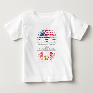 American Grown With Peruvian Roots Great Gift Baby T-Shirt
