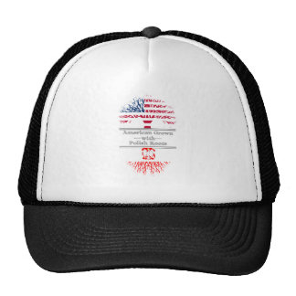 American Grown With Polish Roots Trucker Hat
