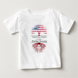 American Grown With Swiss Roots Great Gift Baby T-Shirt