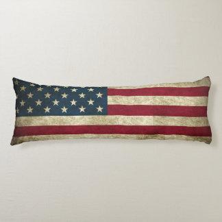 AMERICAN GRUNGE FLAG Custom Polyester Body Cushion