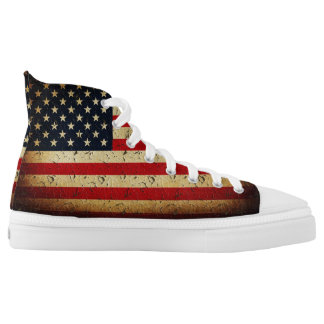 American Grunge Flag USA High Tops