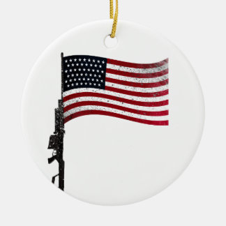American Gunflag Ceramic Ornament