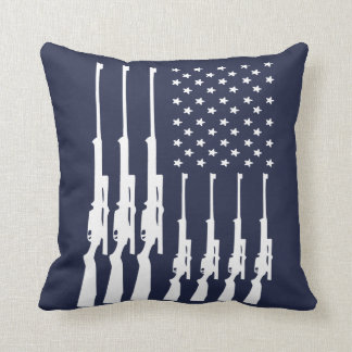 American Guns Throw Pillow