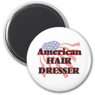 American Hair Dresser 2 Inch Round Magnet