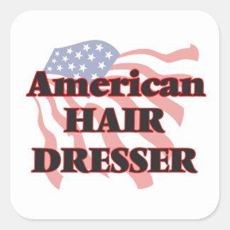 American Hair Dresser Square Sticker