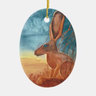 American Hare Ceramic Ornament