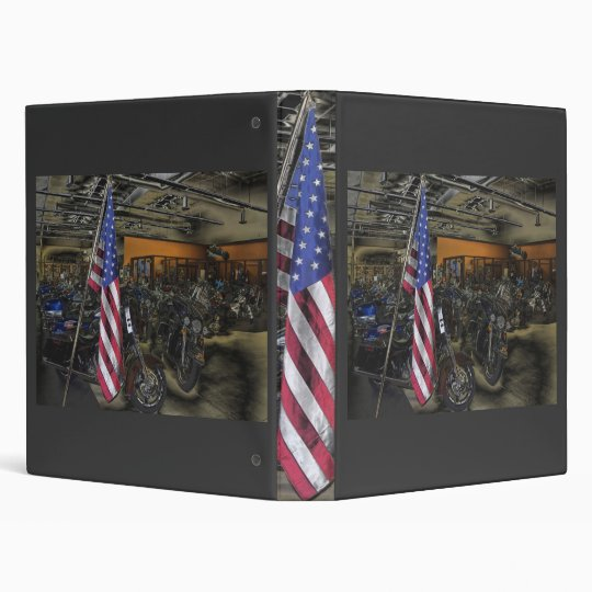 American Harley Davidson 3 Ring Binder