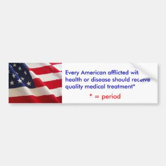 American Healthcare Bumper Sticker