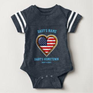 American Heart Baby Bodysuit