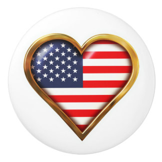American Heart Ceramic Knob
