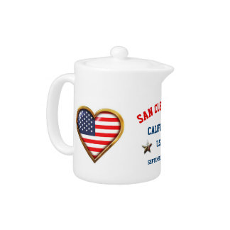 American Heart Customized With Any City And State