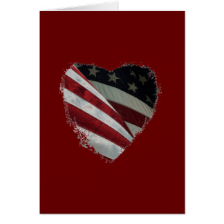 American Heart Flag Card