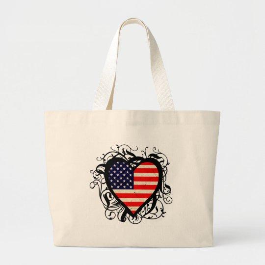 American Heart Large Tote Bag