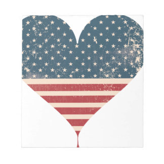 AMERICAN-HEART NOTEPAD