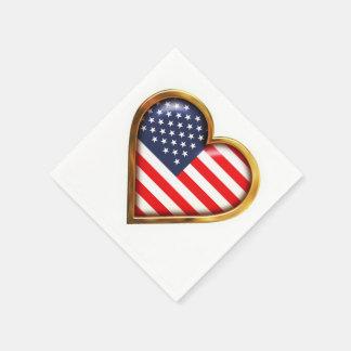 American Heart Paper Napkins
