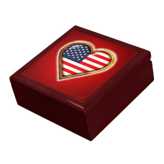 American Heart Trinket Boxes