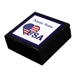 American Heart USA Flag Large Gift Box